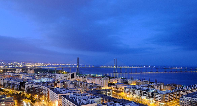 Apartamentos para Venda em Lisboa Parque das Nacoes Empreendimento Panoramic Vista Rio e Vista Cidade Vista Noite